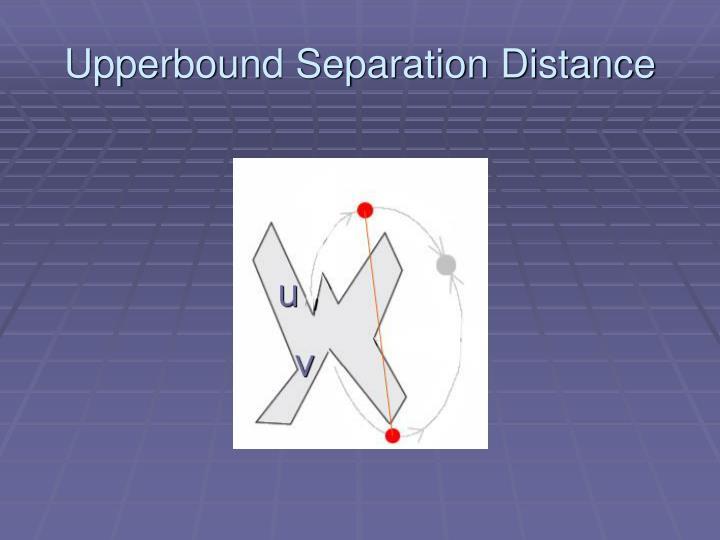 Upperbound Separation Distance