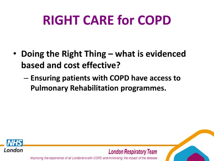 RIGHT CARE for COPD