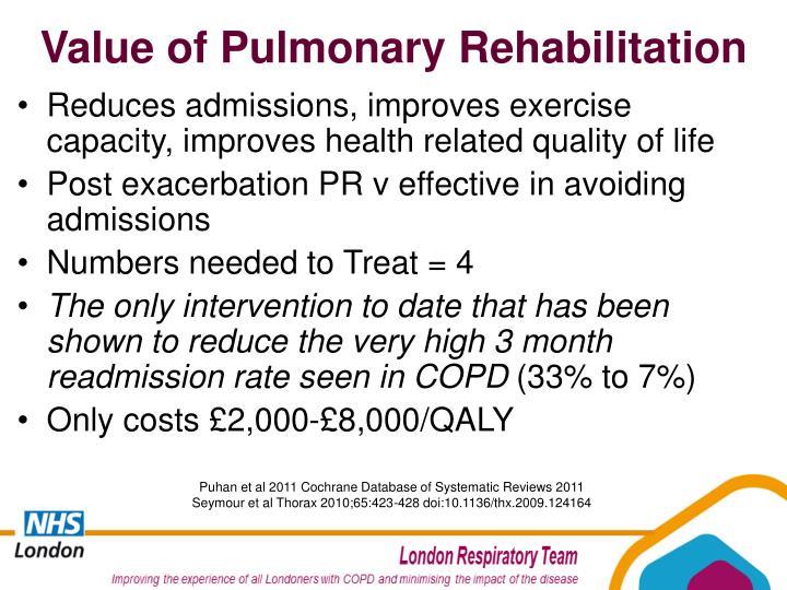 Value of Pulmonary Rehabilitation