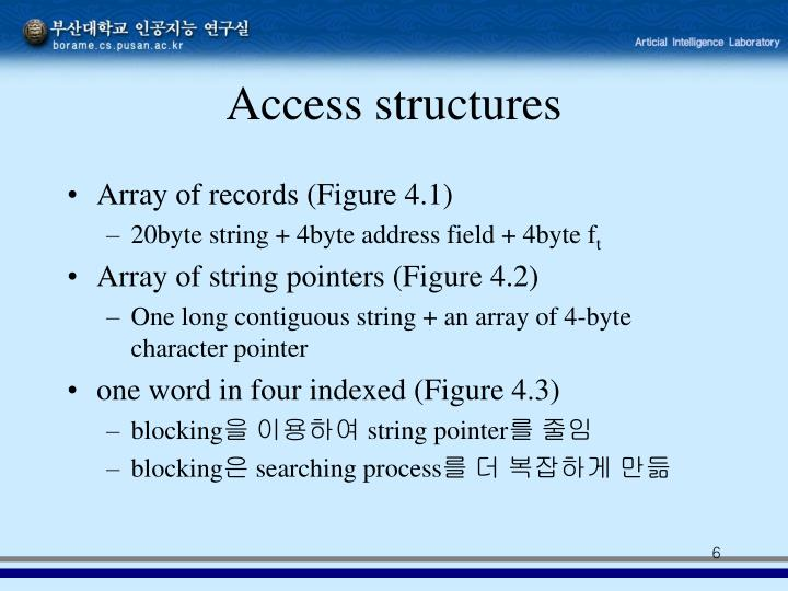 Access structures
