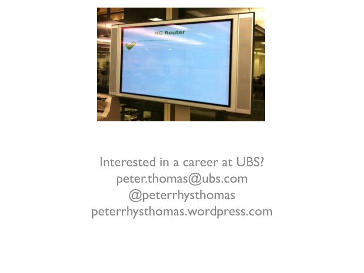 Interested in a career at UBS?