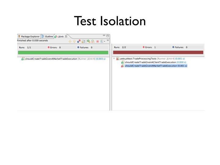 Test Isolation
