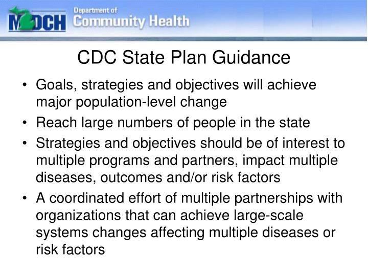 CDC State Plan Guidance