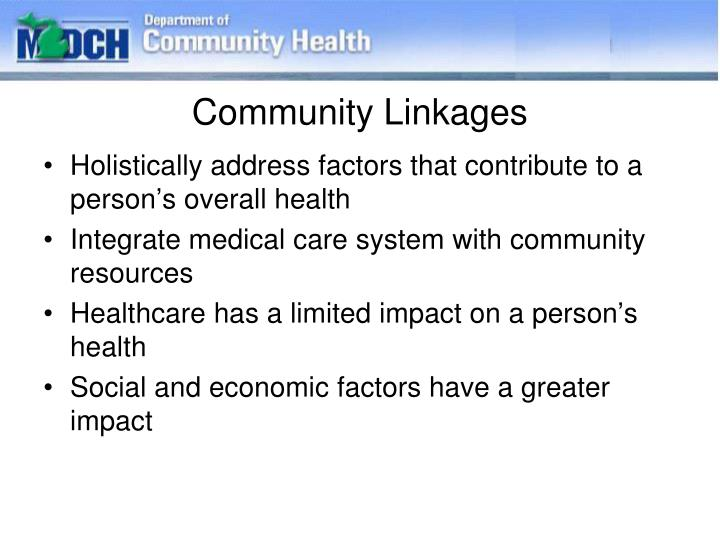 Community Linkages