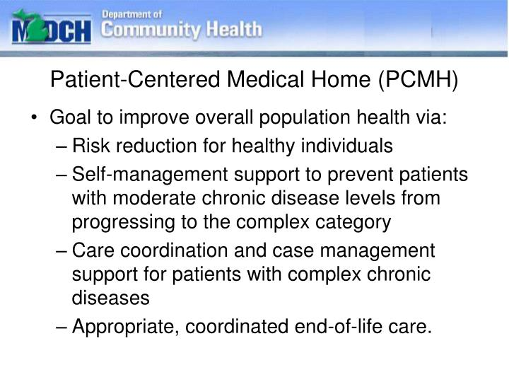 Patient-Centered Medical Home (PCMH)