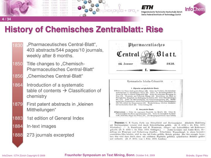 History of Chemisches Zentralblatt: Rise