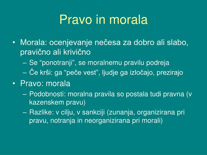 Pravo in morala