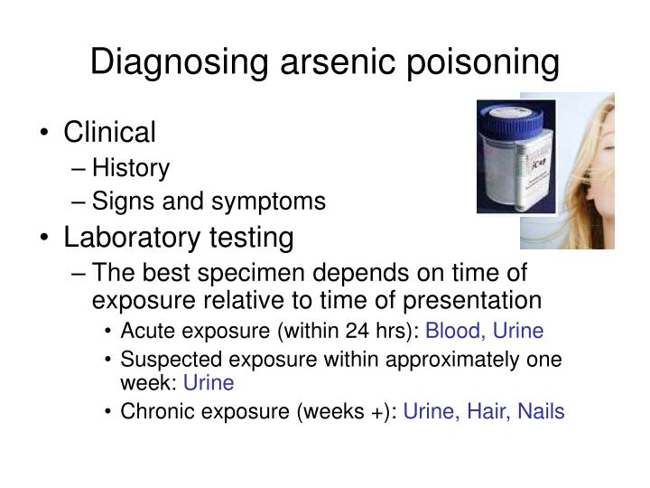 Diagnosing arsenic poisoning