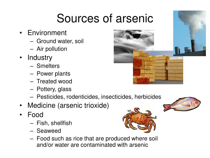 Sources of arsenic