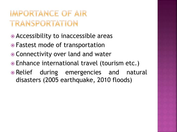 Importance of Air Transportation