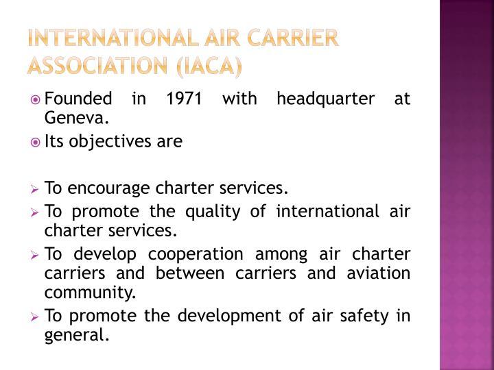 International Air Carrier Association (IACA