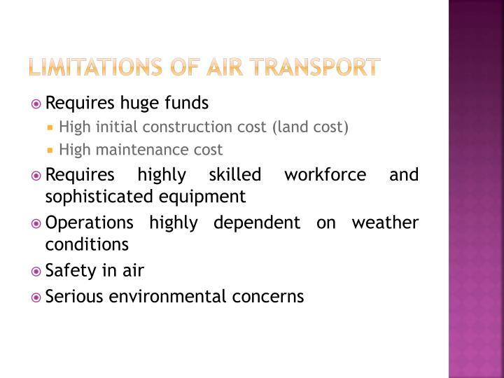 Limitations of Air Transport