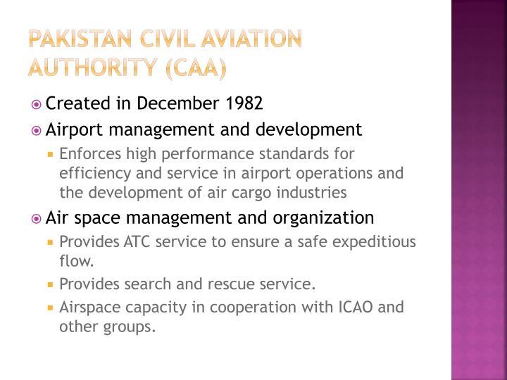 Pakistan Civil Aviation Authority (CAA)