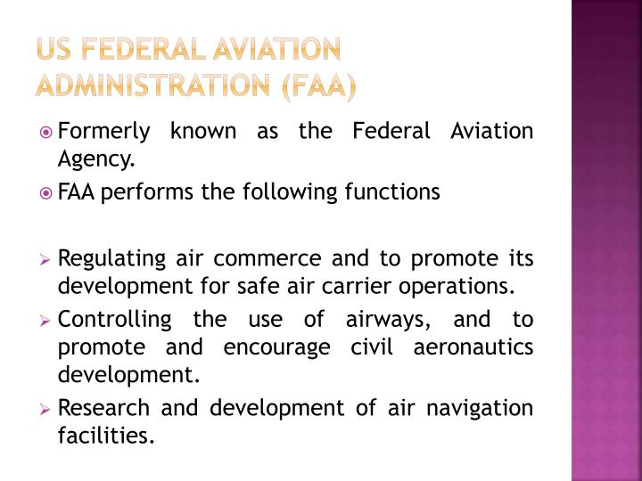 US Federal Aviation Administration (FAA