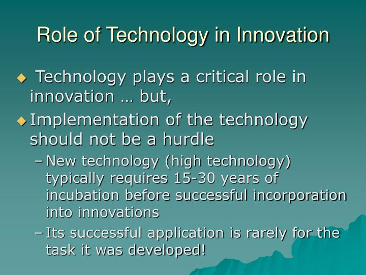 Role of Technology in Innovation