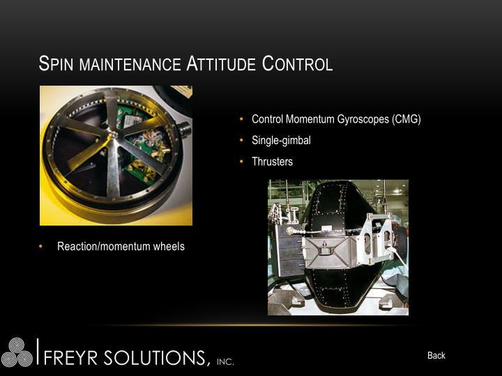 Spin maintenance Attitude Control