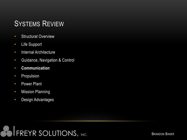 Systems Review