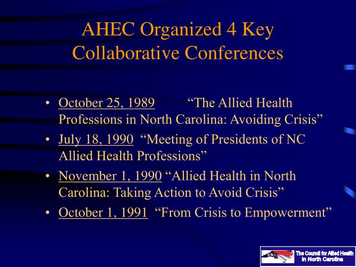 AHEC Organized 4 Key Collaborative Conferences