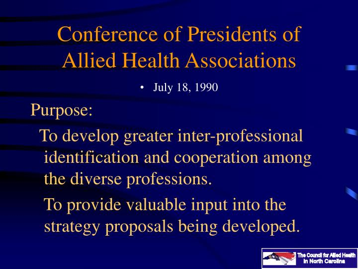 Conference of Presidents of Allied Health Associations