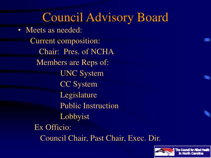 Council Advisory Board
