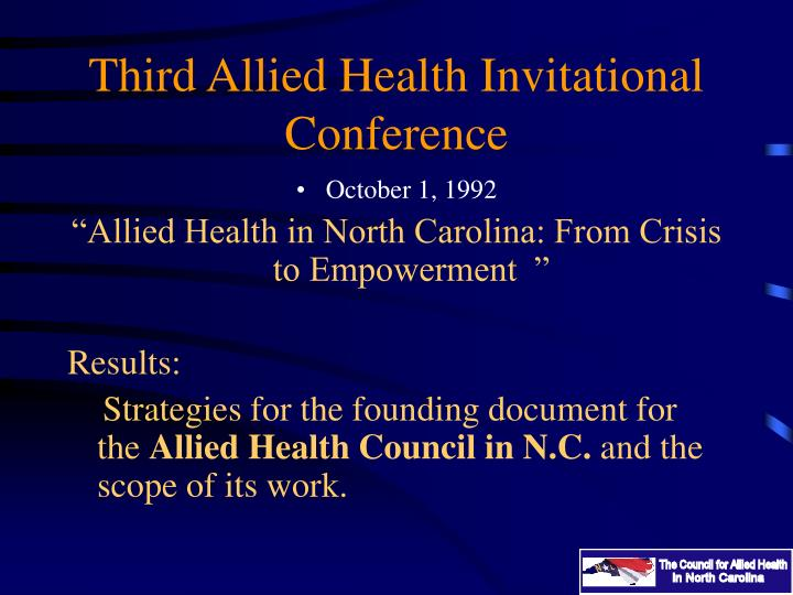 Third Allied Health Invitational Conference