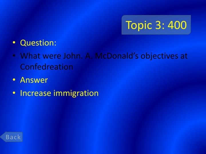 Topic 3: 400