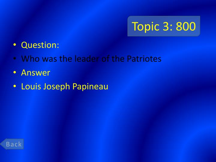 Topic 3: 800