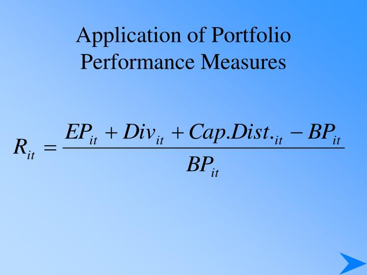 Application of Portfolio Performance Measures