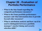 chapter 26 evaluation of portfolio performance3