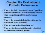 chapter 26 evaluation of portfolio performance4