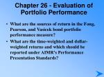 chapter 26 evaluation of portfolio performance6
