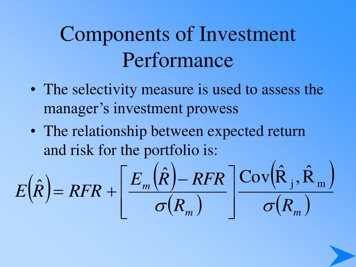 Components of Investment Performance