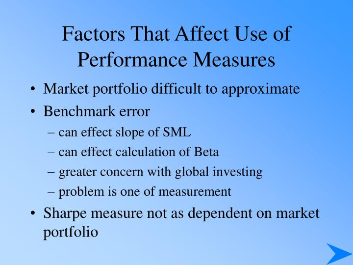 Factors That Affect Use of Performance Measures