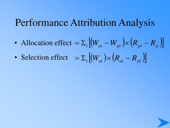 Performance Attribution Analysis