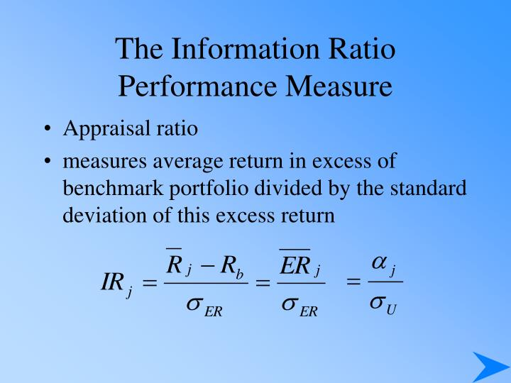 The Information Ratio Performance Measure