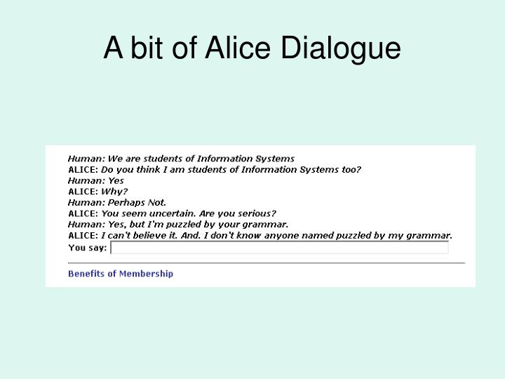 A bit of Alice Dialogue