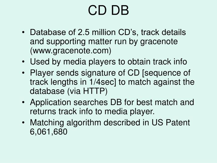 CD DB