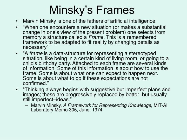 Minsky's Frames