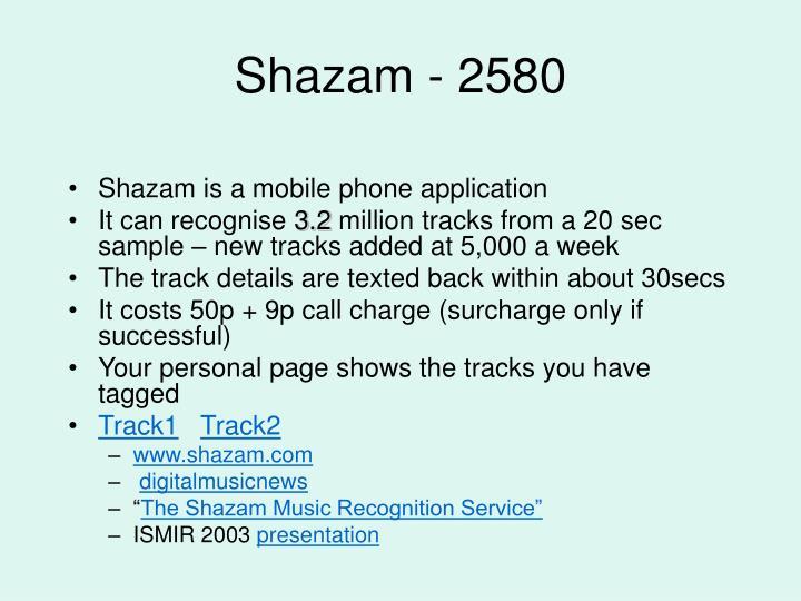 Shazam - 2580