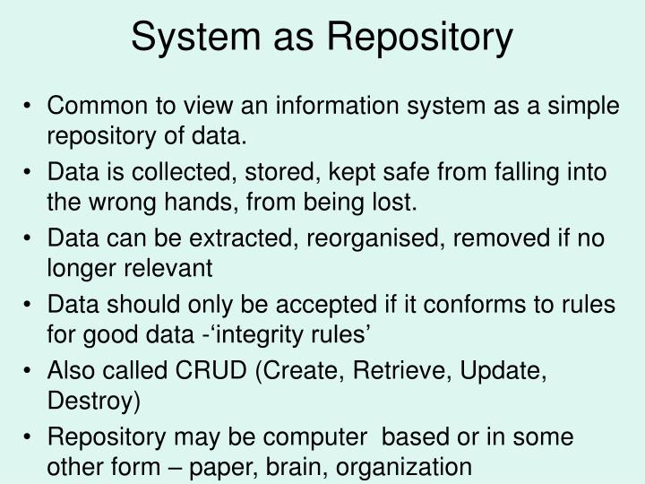 System as Repository