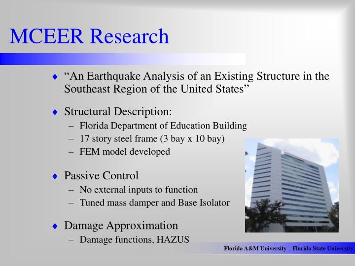 MCEER Research