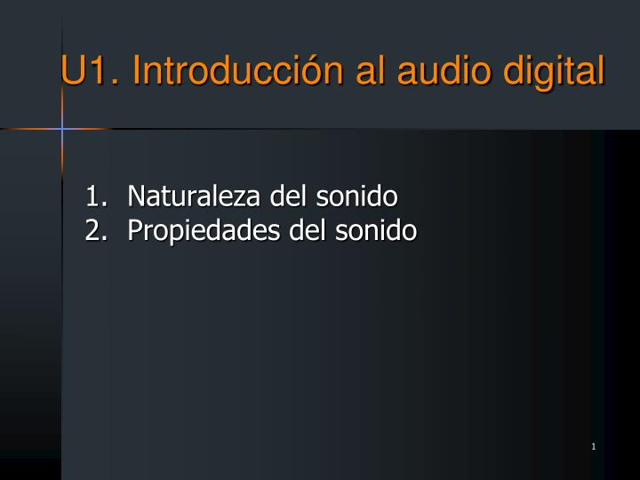 U1 introducci n al audio digital