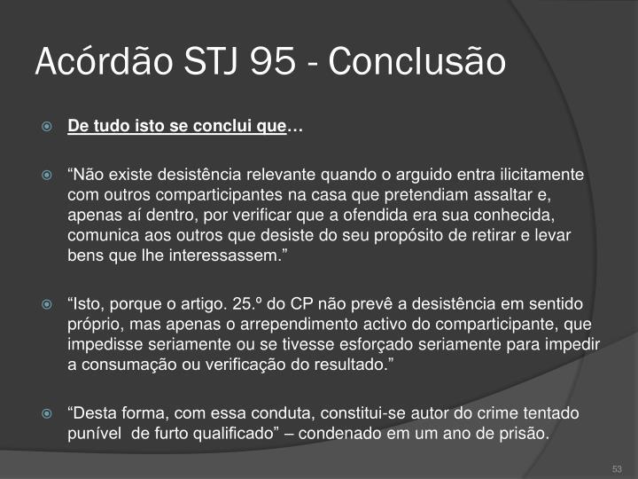 Acórdão STJ 95 - Conclusão