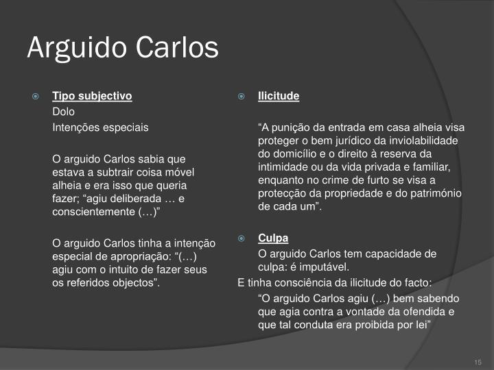 Arguido Carlos
