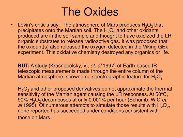 The Oxides
