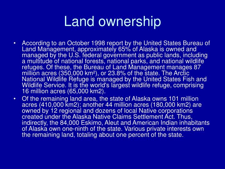 Land ownership