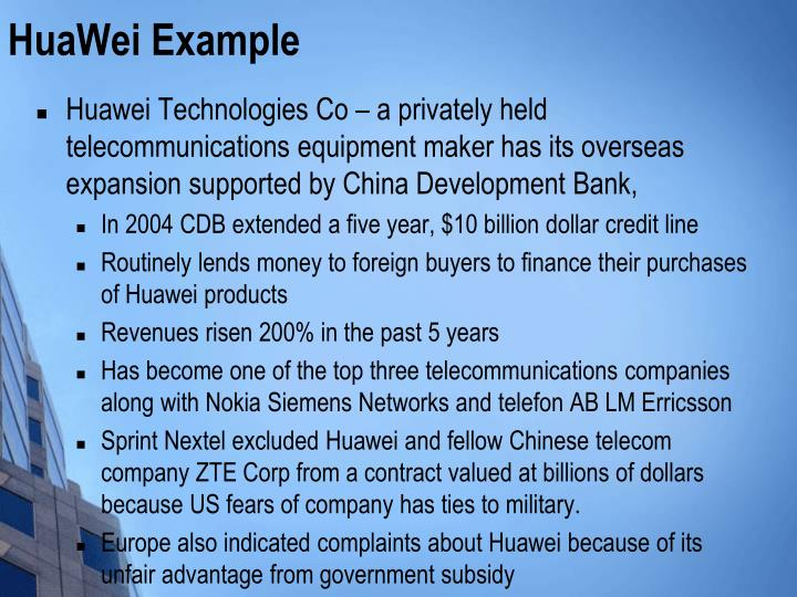 HuaWei Example