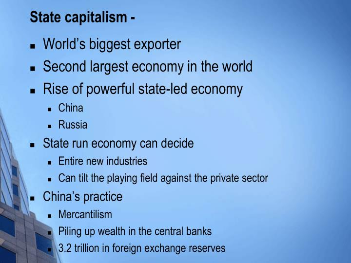 State capitalism -