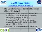 geo level status next step for wa 06 05 wa 07 02