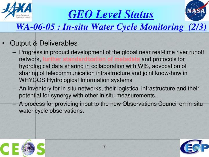 GEO Level Status